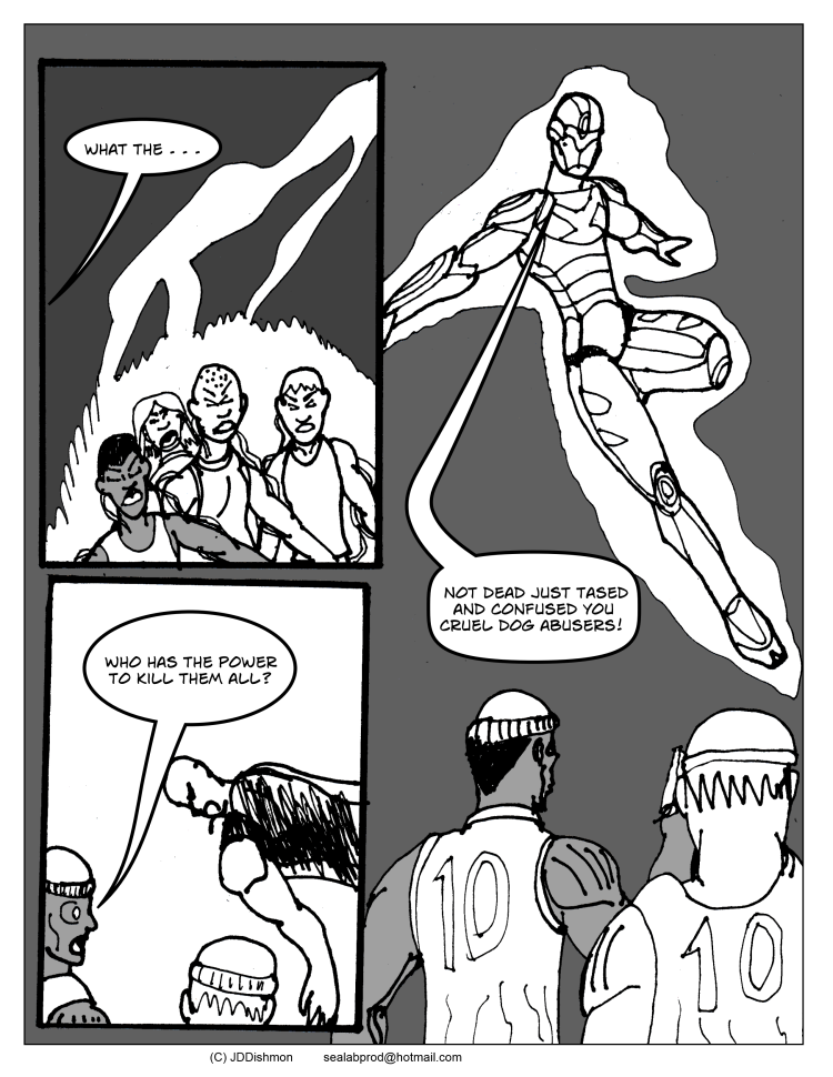 ch2 pg2 Crap the hero shows us up